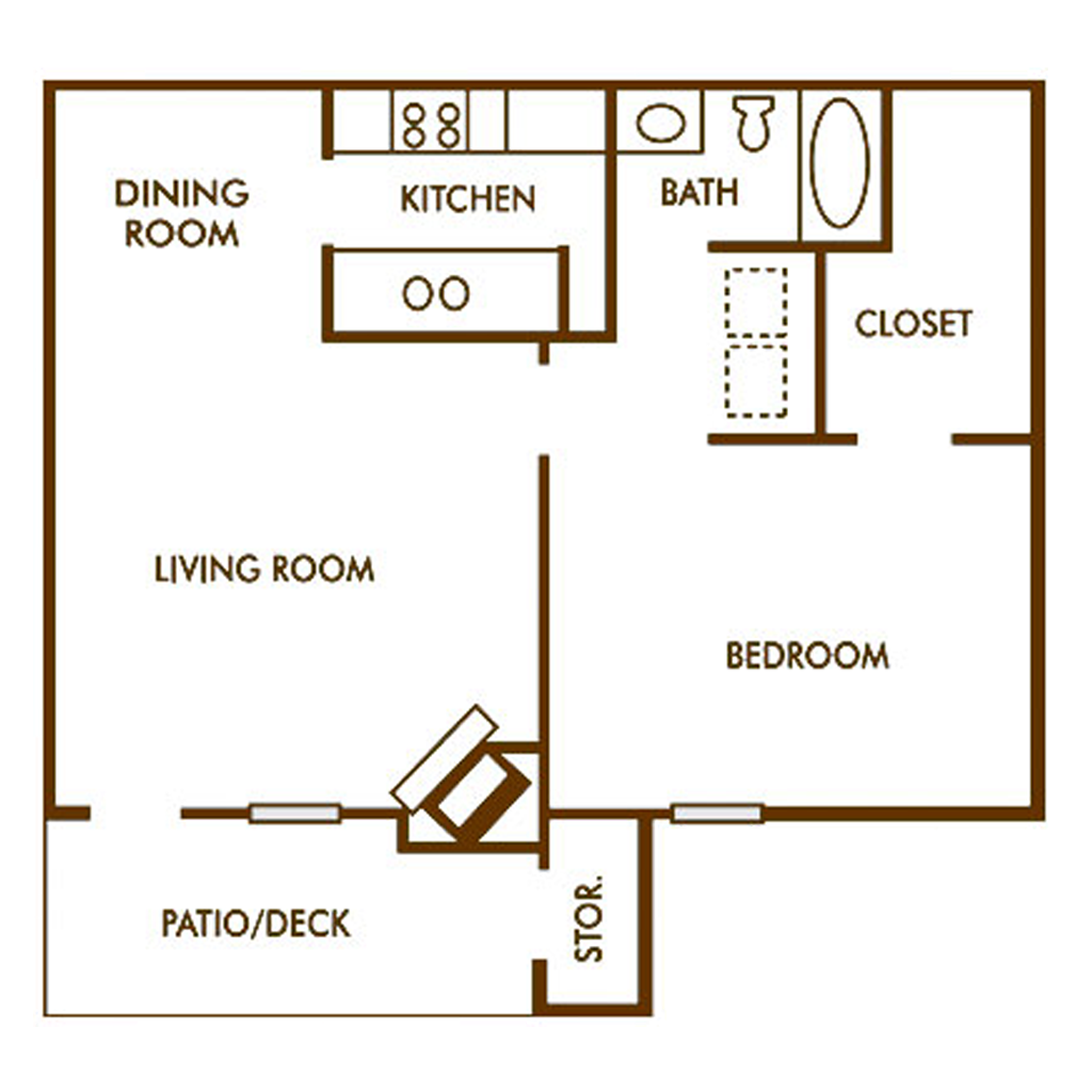Spacious 1 Bed and Bath